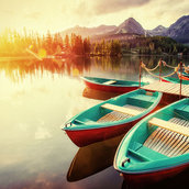 Boat on the dock wallpaper