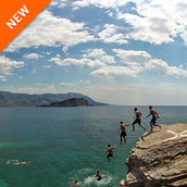 Cliff diving on mogren beach(Montenegro)