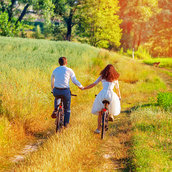 Young couple wallpaper